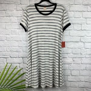 NWT Mossimo Supply Striped Tee Shirt Dress XXL